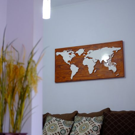 wooden map dunia