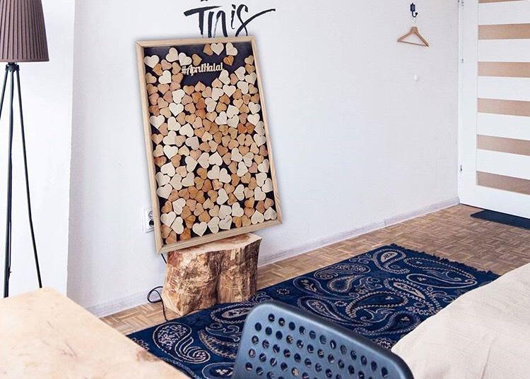wooden love filling
